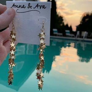 Anna & Ava Golden Meteor Shower Hook Earrings!